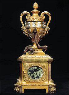 Louis XV/Louis XVI Ormolu Marble Urn Clock, Ca. 1770 (Courtesy Christie's)