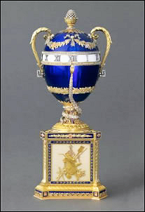 1895 Fabergé Blue Serpent Egg Clock (Courtesy Prince Albert III of Monaco Collection)