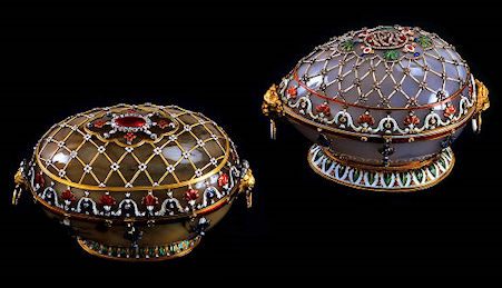 "Fabergé 1894 Renaissance Egg, ""The Link of Times"" Collection"