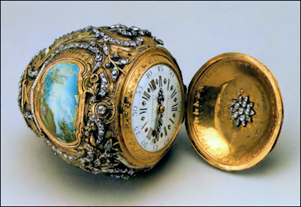 18th Century Nécessaire Egg with Clock and Travel Kit (Courtesy State Hermitage Collection)