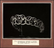 1922 Album Cover and Photograph of an Imperial Diadem, Not by Fabergé (Courtesy USGS)
