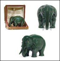 Carved Nephrite Model of an Elephant, 7 1/2 in. tall (Courtesy Christie's)