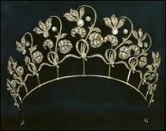 Cyclamen Tiara (ca. 1905-06) Becomes a Necklace When Detached from Its Base