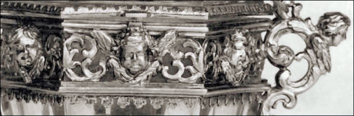 Detail of the Reliquary (Courtesy Museum of Silver in Florence, Italy)