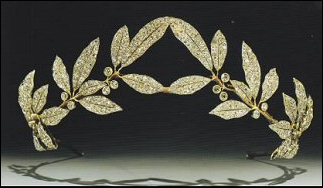 Myrtle Spray Tiara (ca. 1906) by Albert Holmström (Courtesy Duke and Duchess of Westminster Collection)