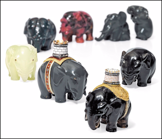 Elephants from the Estate of H.R.H. The Prince Henry, Duke of Gloucester (Courtesy Christie's London)