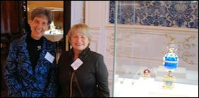Christel McCanless (Fabergé Research Newsletter) and Riana Benko from Slovenia, a Brand-new Fabergé Enthusiast