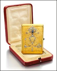 Imperial Presentation Gold Cigarette Case Given by Emperor Nicholas II to Hans-Falk Dessen, 1915  November 25, 2014  Sotheby's London, Russian Art