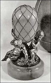 Egg Missing Its Surprise with Putti Base, Sotheby's London, 1960 (Archival Photograph)