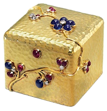 Jeweled Gold Boxes, ca. 1890 August Holmström