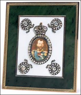 Imperial Presentation Table Portrait by Henrik Wigström, Miniature by Vasilii Zuiev, 1909 (Courtesy Sotheby's New York, April 16, 2013, Lot 87, $413,000)