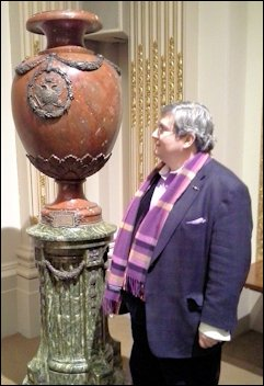 Jim Hurtt with the Fabergé Urn and the Silver Eagle Detail, Board Room, New York Stock Exchange (Photographs Christel McCanless)