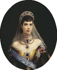 Empress Maria Feodorovna Wearing the Imperial Diadem (Courtesy Wiki)