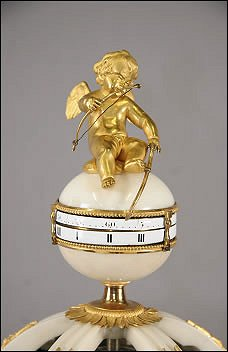 A White Marble and Ormolu Clock Designed as the Temple of Diana, French, ca.1770 (Courtesy Cortot-Vréügille-Bizouard SVV, Dijon, France)