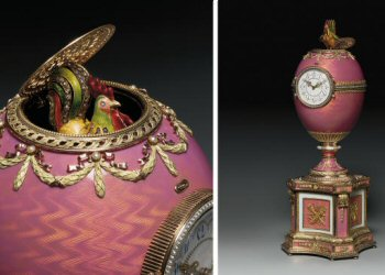 The Rothschild Fabergé Clock (Courtesy Christie's)