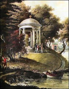 Temple Built for Catherine the Great in the Gardens of Pavlovsk (Colored Print, Courtesy Private Collection)