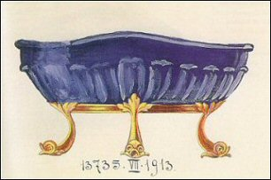 Lapis Lazuli Bowl and Sketch (Courtesy Sotheby's)