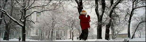 St. Petersburg, Russia - Hermitage Museum in the Snow (Courtesy Galina Korneva)