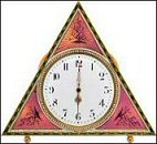 Pink Triangular Clock