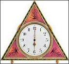 Pink Triangular Clock