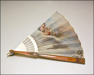 Watteauesque-style Fan, J. Donzel Fils Fan, both with Fabergé Guards (Photos: C & M Photographers)
