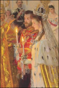 1894 Wedding of Nicholas II and Alexandra Feodorovna (Courtesy The Royal Collection)