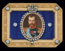 1913 Nicholas II Imperial Presentation Snuff Box (Courtesy Christie's)