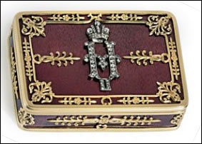 Nicholas II Imperial Presentation Snuff Box (Courtesy Christie's)