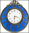 Blue Wedding Clock