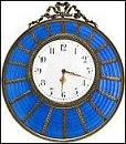 Blue Wedding Clock