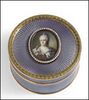 Box with Portrait of Catherine the Great and Violet by Fabergé (Courtesy A La Vieille Russie)