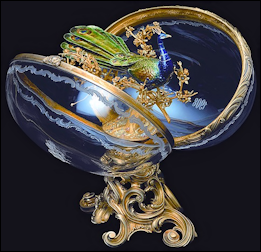 1908 Imperial Peacock Egg by Fabergé (ForbesLife, September 2011, 44)