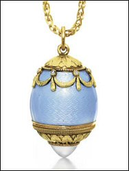 Fabergé Frame and Egg Scent Bottle (Courtesy Christie's)