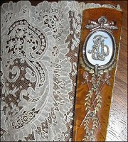 Monogrammed Guard with Brussels Lace, Mikhail Perkhin, ca. 1895 (Collection Mrs. Alexander)