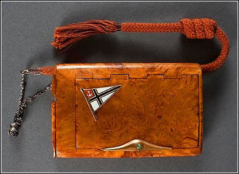 Karelian Birch Cigarette Case with Plaque (Courtesy Leo Donahew)