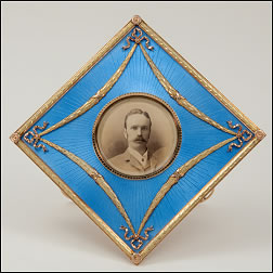 Frame with Recipient's Photograph and Commemorative Plaque with a Strut in the Form of AB for Allan Bowe (Courtesy McFerrin Collection, Illustrations © C&M Photographers)
