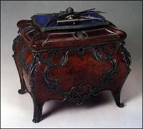 Fabergé Casket in Pallisander Room (Courtesy Petersburg Age Magazine)