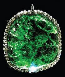 Emerald Pendant, 245 Carats (Courtesy Diamond Fund, Kremlin)