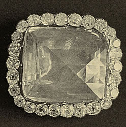 Fersman Plate LXXXVI: Two Brooches with Ceylon Sapphires I. Brooch with 26 Diamonds II. Brooch with 24 Diamonds No. 161
