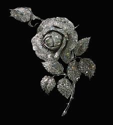 Rose Brooch 1970 Reproduction (Diamond Fund, Kremlin)