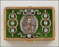 Recent Additions to the McFerrin Collection: Bismarck Box (1889), Hand Fan with a Fabergé Sticks and Guards, Lord Carrington Box (1894) (Photographs © C&M Photographers)
