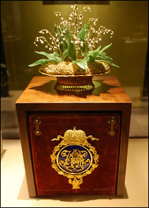 Lilly of the Valley Basket and Its Presentation Basket (Photograph George McCanless)