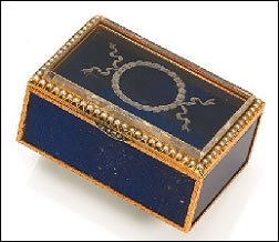 Lapis Lazuli and Gold Box by Henrik Wigström (Courtesy Webb's Auctions, June 20, 2012)