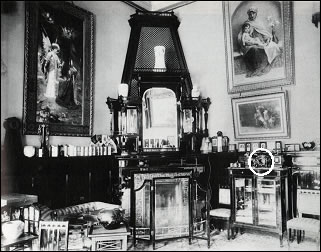 Fabergé Casket in Pallisander Room (Courtesy Petersburg Age Magazine)