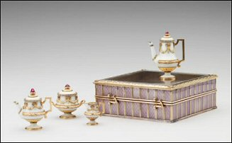 Miniature Teaset - Frame with 1946 Photographs (Royal Collection © 2011, Her Majesty Queen Elizabeth II)