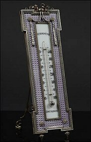 Guilloché Enamelled Thermometer (Courtesy Coutau-Bégarie)