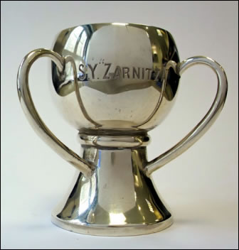 Zarnitsa Sailor and S.Y. Zarnitza Cup (Courtesy Pratt Collection and McClean Museum)