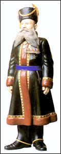 Kamer-Kazak A.A. Kudinov, Personal Cossack Body Guard from 1878-1915 to Dowager Empress Marie Feodorovna, Property of the State Pavlovsk Museum, Russia (Ulla Tillander-Godenhielm, et al., Golden Years of Fabergé, Drawings and Objects from the Wigström Workshop, 2000, 50-51)