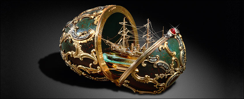 1891 Memory of Azov Egg by Fabergé (Photograph Courtesy of State Kremlin Museum)