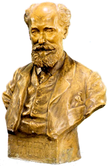 Plaster Bust of Carl Fabergé by Joseph Limburg (1874-1955) (Collection Tatiana Fabergé)